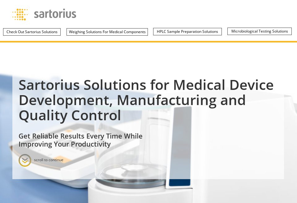 Sartorius - Medical Technology | Issue 15 | May 2019